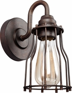Feiss VS24001PRZ Calgary Contemporary Parisian Bronze Wall Light Sconce