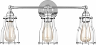 Feiss VS24003CH Calgary Modern Chrome 3-Light Bath Wall Sconce