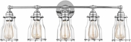 Feiss VS24005CH Calgary Modern Chrome 5-Light Bathroom Lighting Sconce