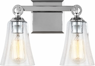 Feiss VS24702CH Monterro Chrome 2-Light Bathroom Wall Light Fixture