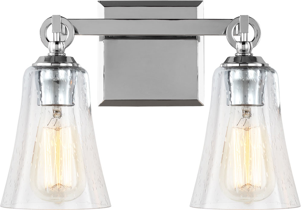 Feiss vs24702ch monterro chrome 2 light bathroom wall for Bathroom 2 light fixtures