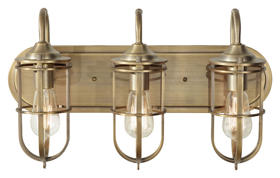 Nautical Light Fixtures Bathroom. Feiss Vs36003 Dab Urban Renewal Nautical Bath Lighting Dark Antique Brass Finish Loading Zoom