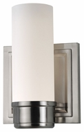 Feiss VS38001-BS Lucas Short 6 Inch Brushed Steel Wall Sconce