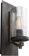 Feiss WB1825DWK-SGM Angelo Contemporary Distressed Weathered Oak / Slated Grey Metal Wall Lighting
