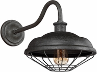Feiss WB1829SGM Lennex Retro Slated Grey Metal Interior / Exterior Lamp Sconce