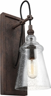 Feiss WB1850DWI Loras Modern Dark Weathered Iron Wall Sconce Light