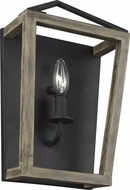 Feiss WB1877WOW-AF Gannet Weathered Oak Wood / Antique Forged Iron Wall Lamp
