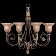 Fine Art Lamps 225142ST Stile Bellagio Traditional Tortoised Leather Crackle Chandelier Lighting