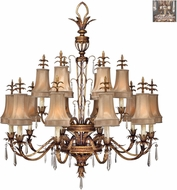 Fine Art Lamps 428040-1ST Pastiche Silver Chandelier Light