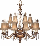 Fine Art Lamps 428040-2ST Pastiche Gold Ceiling Chandelier