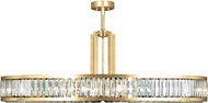Fine Art Lamps 812940-2ST Crystal Enchantment Gold LED Drum Drop Lighting Fixture