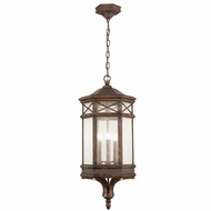 Fine Art Lamps 837082 Holland Park Traditional Antique Bronze Finish 34  Tall Outdoor Pendant Lighting