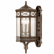 Fine Art Lamps 837481 Holland Park Traditional Antique Bronze Finish 12  Wide Exterior Lamp Sconce