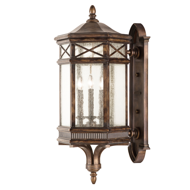 Antique Outdoor Wall Sconces : Fine Art Lamps 837681 Holland Park Traditional Antique Bronze Finish 34