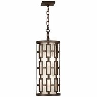 Fine Art Lamps 839082 River Oaks Dark Bronze Finish 28  Tall Outdoor Pendant Light