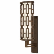 Fine Art Lamps 839481 River Oaks Dark Bronze Finish 8.5  Wide Exterior Lighting Wall Sconce