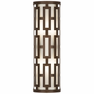 Fine Art Lamps 840081 River Oaks Dark Bronze Finish 7  Wide Exterior Wall Sconce Lighting