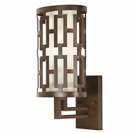 Fine Art Lamps 843481 River Oaks Dark Bronze Finish 8.5  Wide Exterior Wall Light Sconce