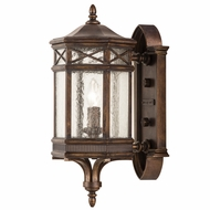 Fine Art Lamps 844881 Holland Park Traditional Antique Bronze Finish 8  Wide Outdoor Wall Sconce