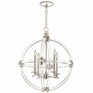 Fine Art Lamps 845840 Grosvenor Square Nickel Plated Solid Brass Finish 24  Wide Mini Chandelier Lighting