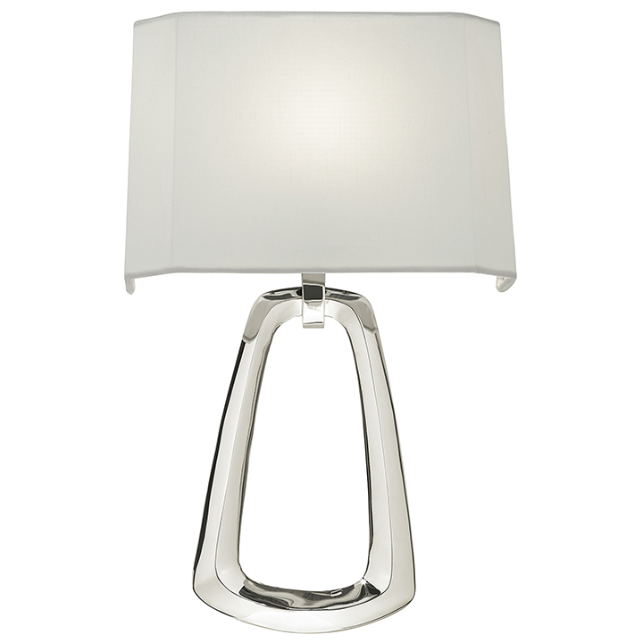 Tall Modern Wall Sconces : Fine Art Lamps 847250 Grosvenor Square Modern Polished Nickel Finish 15