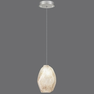 Fine Art Lamps 851840-18 Natural Inspirations Modern Silver Leaf Finish 13 - 127  Tall Halogen Mini Pendant Light