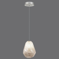 Fine Art Lamps 851840-19 Natural Inspirations Contemporary Silver Leaf Finish 4  Wide Halogen Mini Lighting Pendant