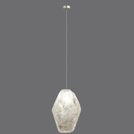 Fine Art Lamps 851840-24 Natural Inspirations Modern Silver Leaf Finish 13 - 127  Tall Halogen Mini Pendant Lighting Fixture