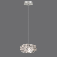 Fine Art Lamps 852240-11 Natural Inspirations Contemporary Silver Leaf Finish 5.5  Wide Halogen Mini Ceiling Light Pendant