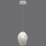 Fine Art Lamps 852240-13 Natural Inspirations Contemporary Silver Leaf Finish 5.5  Wide Halogen Mini Drop Ceiling Light Fixture