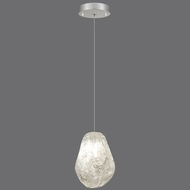 Fine Art Lamps 852240-15 Natural Inspirations Contemporary Silver Leaf Finish 5.5  Wide Halogen Mini Pendant Lighting