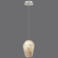 Fine Art Lamps 852240-17 Natural Inspirations Contemporary Silver Leaf Finish 5.5  Wide Halogen Mini Lighting Pendant