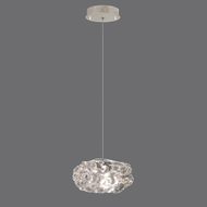 Fine Art Lamps 852240-21 Natural Inspirations Silver Leaf Finish 5.5  Wide Halogen Mini Hanging Lamp