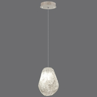 Fine Art Lamps 852240-25 Natural Inspirations Contemporary Silver Leaf Finish 5.5 Wide Halogen Mini Hanging Pendant Lighting