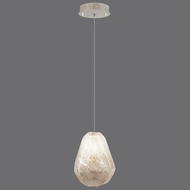 Fine Art Lamps 852240-29 Natural Inspirations Contemporary Silver Leaf Finish 5.5 Wide Halogen Mini Drop Lighting