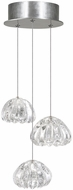 Fine Art Lamps 852340-107ST Natural Inspirations Contemporary Silver Halogen Multi Hanging Pendant Lighting