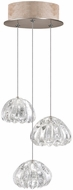Fine Art Lamps 852340-207ST Natural Inspirations Contemporary Gold Halogen Multi Pendant Hanging Light