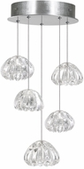 Fine Art Lamps 852440-107ST Natural Inspirations Contemporary Silver Halogen Multi Drop Lighting