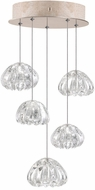 Fine Art Lamps 852440-207ST Natural Inspirations Contemporary Gold Halogen Multi Ceiling Light Pendant