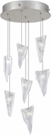 Fine Art Lamps 852640-108ST Natural Inspirations Modern Silver Halogen Multi Drop Lighting Fixture