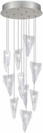 Fine Art Lamps 852840-108ST Natural Inspirations Modern Silver Halogen Multi Pendant Lamp