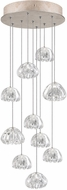 Fine Art Lamps 852840-207ST Natural Inspirations Contemporary Gold Halogen Multi Hanging Lamp