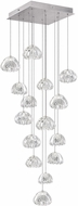 Fine Art Lamps 853040-107ST Natural Inspirations Contemporary Silver Halogen Multi Pendant Light Fixture