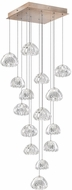 Fine Art Lamps 853040-207ST Natural Inspirations Contemporary Gold Halogen Multi Hanging Pendant Lighting