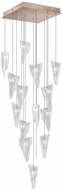 Fine Art Lamps 853040-208ST Natural Inspirations Modern Gold Halogen Multi Hanging Pendant Light