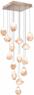 Fine Art Lamps 853040-24ST Natural Inspirations Contemporary Gold Halogen Multi Ceiling Pendant Light