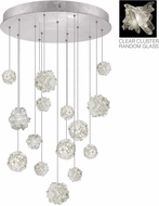 Fine Art Lamps 853140-102ST Natural Inspirations Modern Silver Halogen Multi Drop Ceiling Light Fixture