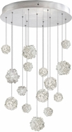 Fine Art Lamps 853140-105ST Natural Inspirations Contemporary Silver Halogen Multi Drop Lighting Fixture