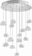 Fine Art Lamps 853140-107ST Natural Inspirations Contemporary Silver Halogen Multi Pendant Hanging Light