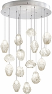 Fine Art Lamps 853140-13ST Natural Inspirations Contemporary Silver Halogen Multi Pendant Light